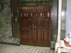 木製玄関ドア塗り替えafter