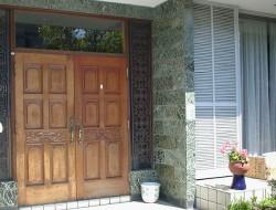 木製玄関ドア塗り替えbefore